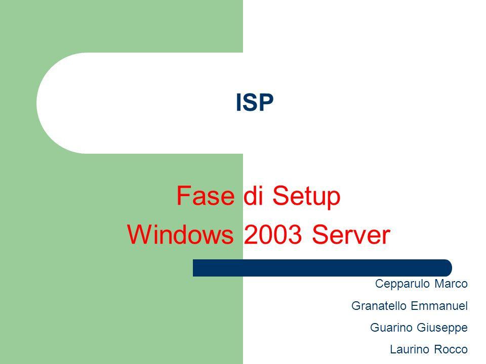 Software Installati Windows 2003 Server DNS(Windows) Apache 2.0 PHP 5 Open SSL 0.9 MySQL 5