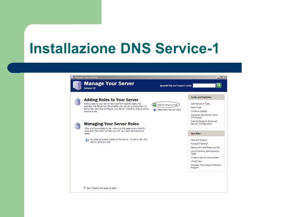 Installazione DNS Service-1