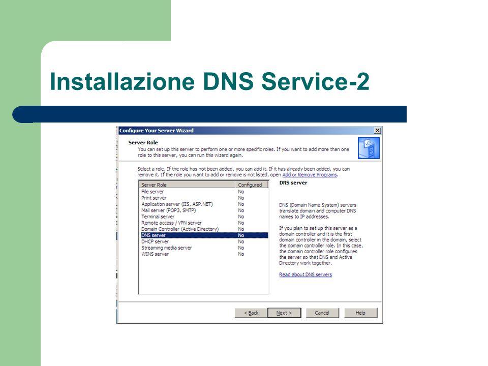 Installazione DNS Service-2