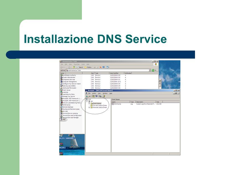 Installazione DNS Service