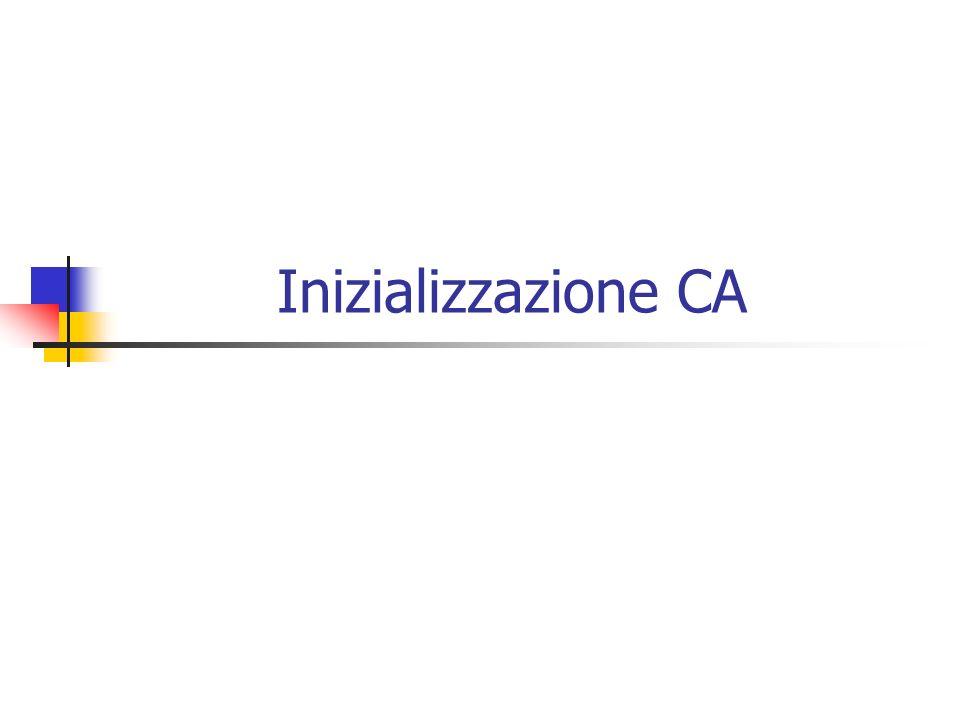 Inizializzazione CA