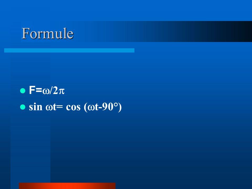 Formule F= /2 sin t= cos ( t-90°)