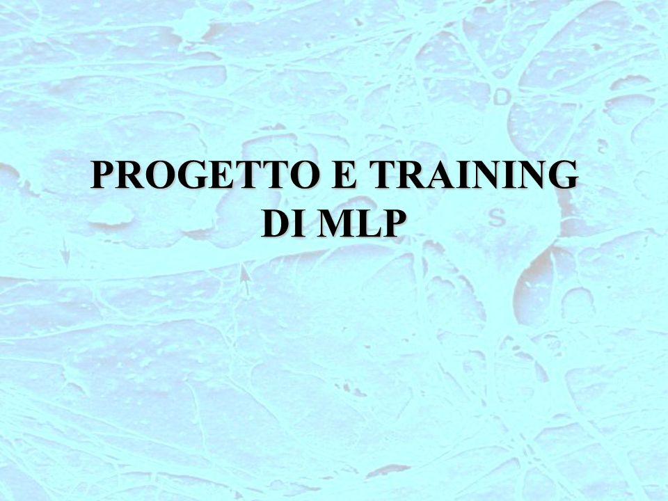 PROGETTO E TRAINING DI MLP