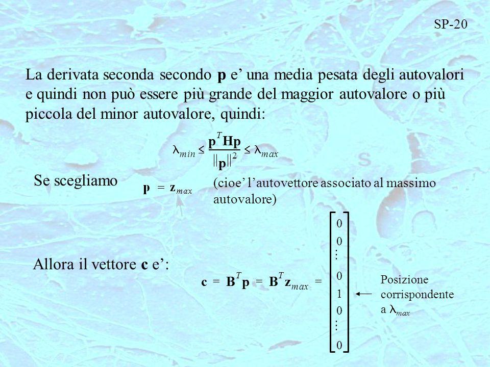 La derivata seconda secondo p e una media pesata degli autovalori e quindi non può essere più grande del maggior autovalore o più piccola del minor au