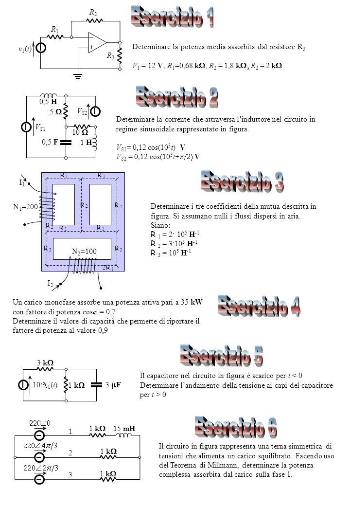 Determinare la corrente che attraversa linduttore nel circuito in regime sinusoidale rappresentato in figura.