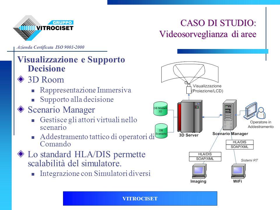 Azienda Certificata ISO 9001-2000 VITROCISET Visualizzazione e Supporto Decisione 3D Room Rappresentazione Immersiva Supporto alla decisione Scenario