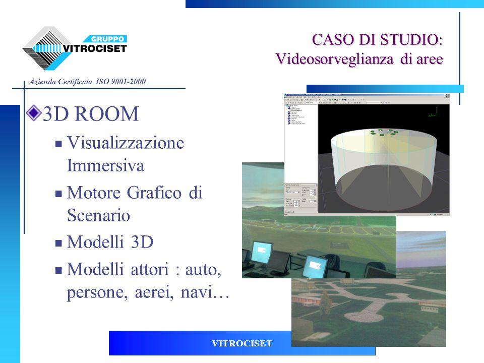 Azienda Certificata ISO 9001-2000 VITROCISET 3D ROOM Visualizzazione Immersiva Motore Grafico di Scenario Modelli 3D Modelli attori : auto, persone, a