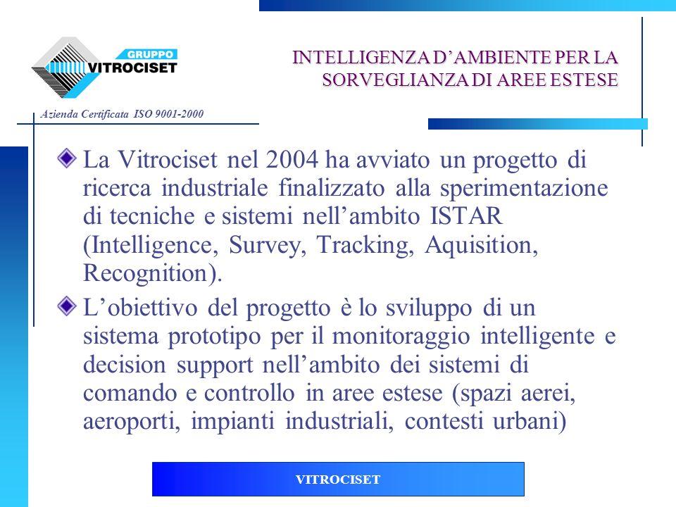 Azienda Certificata ISO 9001-2000 VITROCISET INTELLIGENZA DAMBIENTE PER LA SORVEGLIANZA DI AREE ESTESE La Vitrociset nel 2004 ha avviato un progetto d