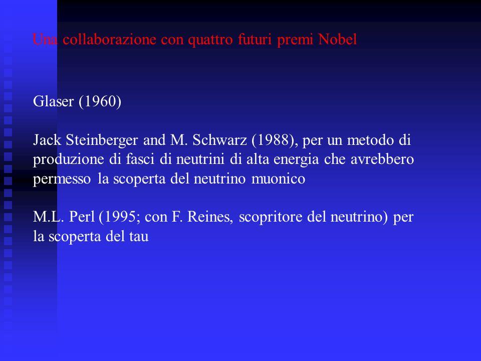Glaser (1960) Jack Steinberger and M.