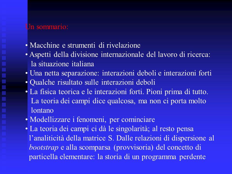 Macchine e tecniche di rivelazione.