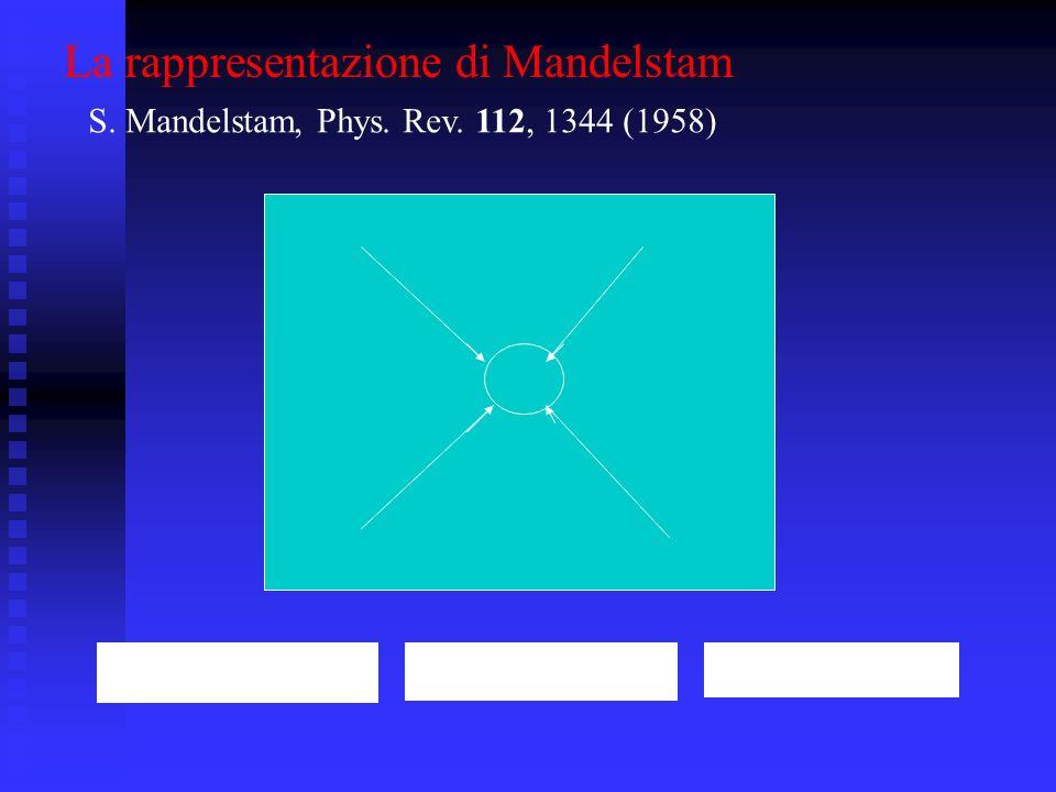 La rappresentazione di Mandelstam S. Mandelstam, Phys. Rev. 112, 1344 (1958)