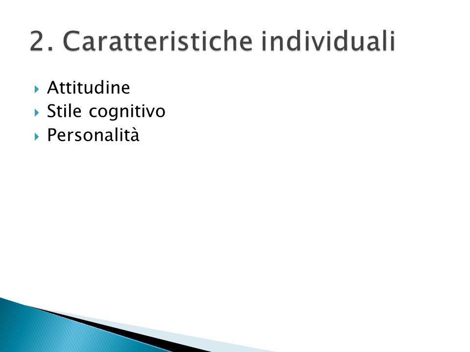 Attitudine Stile cognitivo Personalità