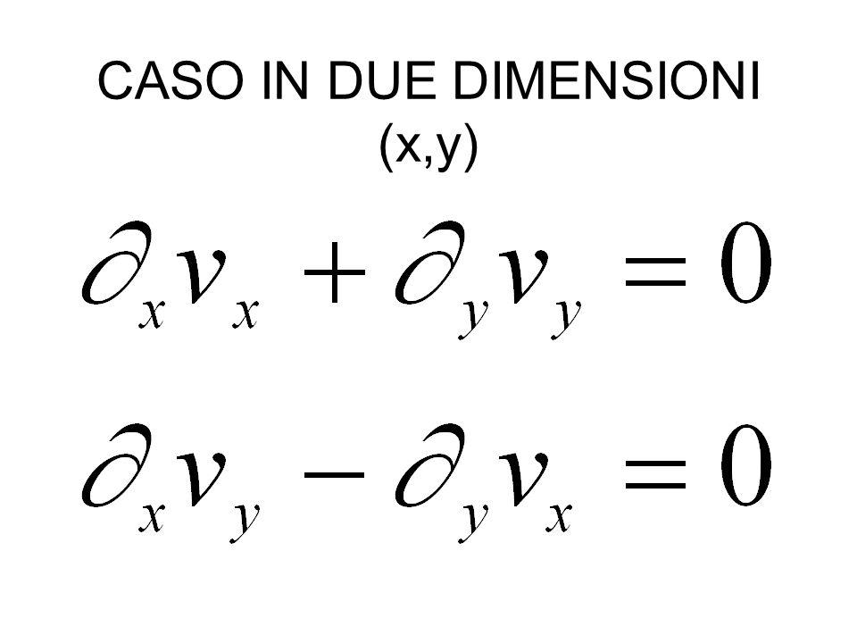 CASO IN DUE DIMENSIONI (x,y)