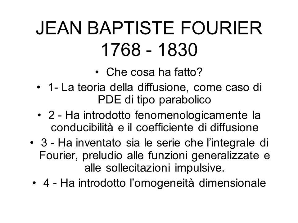 JEAN BAPTISTE FOURIER 1768 - 1830 Che cosa ha fatto.