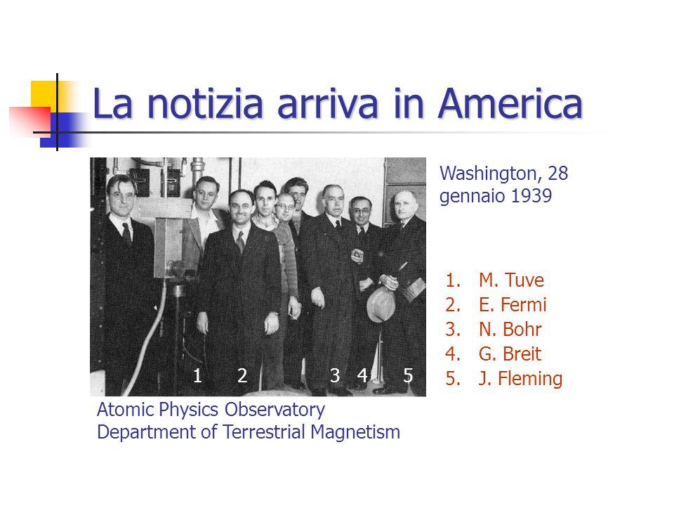 La teoria e la conferma sperimentale (16 gennaio 1939) Otto Frisch L. Meitner, O. Frisch Nature, 11 febbraio 1939 O. Frisch Nature, 18 febbraio 1939 I