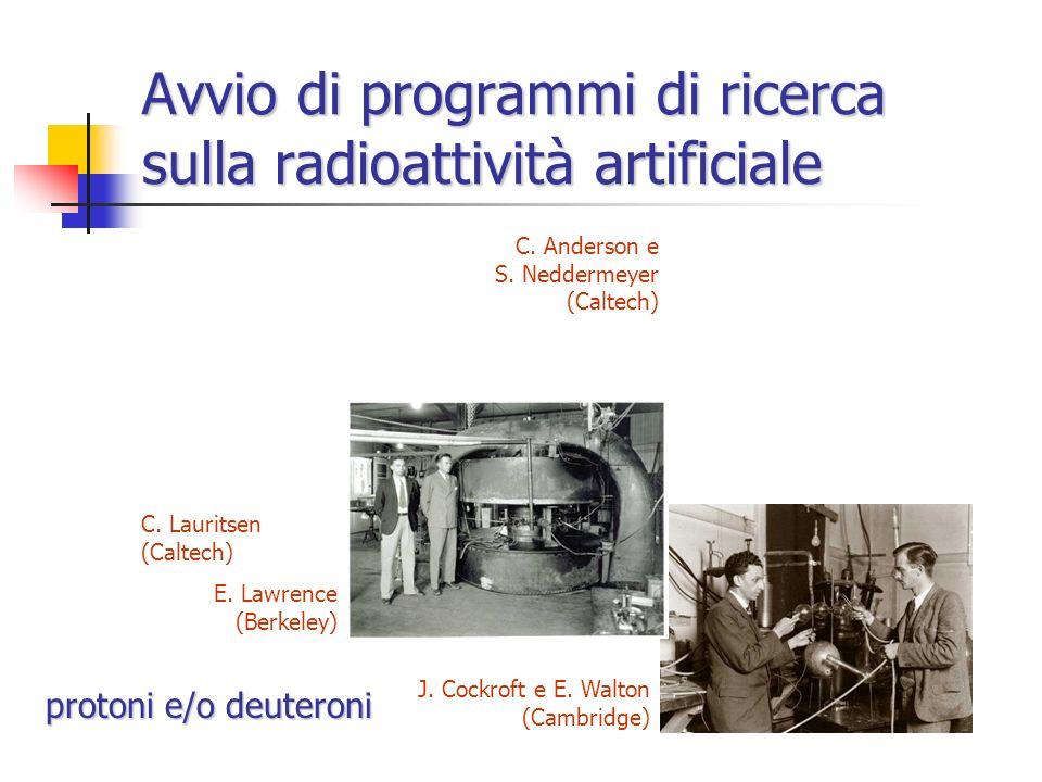 Nuovi isotopi radioattivi PoAl e Al P n P isotopo stabile P isotopo radioattivo non esistente in natura L'emissione di positroni persiste anche dopo l
