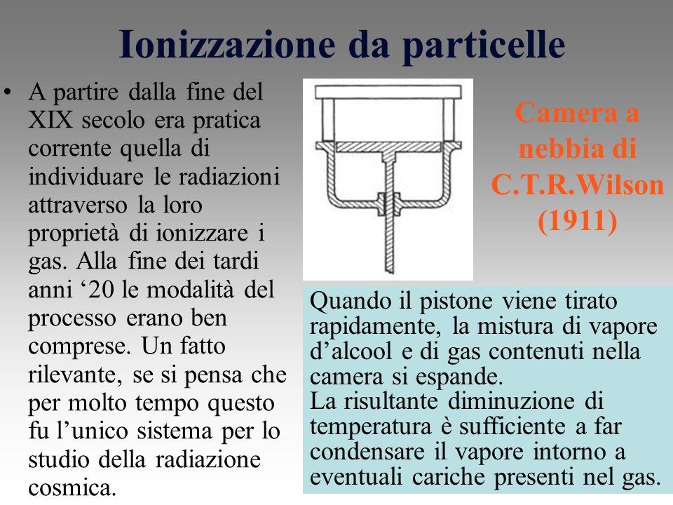 Ionizzazione da particelle A partire dalla fine del XIX secolo era pratica corrente quella di individuare le radiazioni attraverso la loro proprietà di ionizzare i gas.