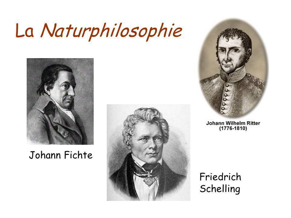 Johann Fichte La Naturphilosophie Friedrich Schelling