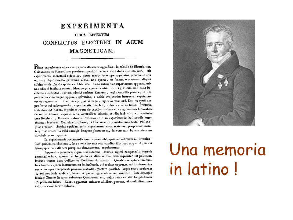Una memoria in latino !