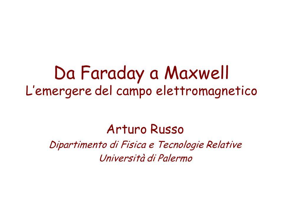 Da Faraday a Maxwell Lemergere del campo elettromagnetico Arturo Russo Dipartimento di Fisica e Tecnologie Relative Università di Palermo