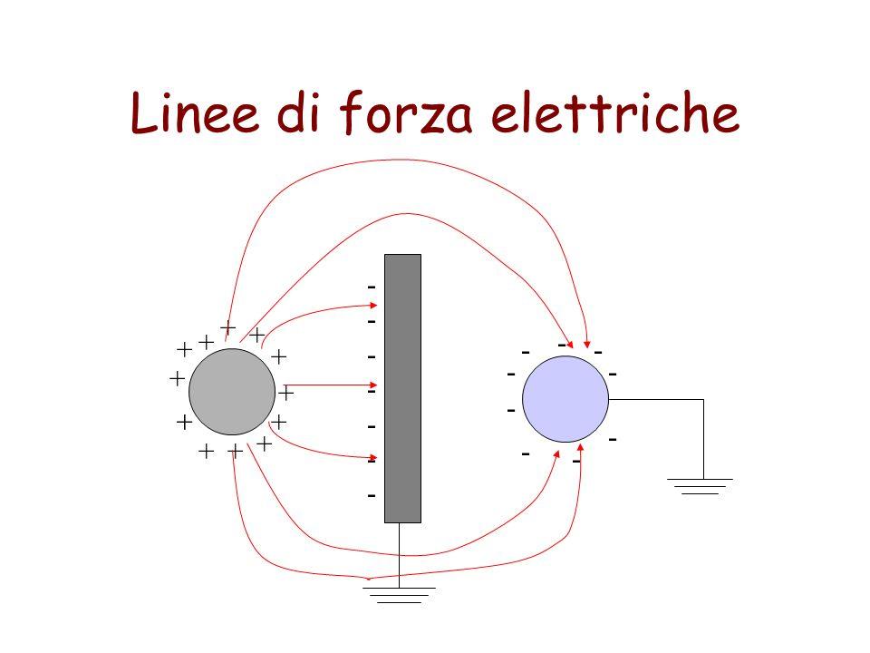 Linee di forza elettriche + + + + + + + + ++ ++ + -------------- - - - - - - - - -