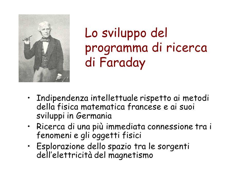 Lo sviluppo del programma di ricerca di Faraday Indipendenza intellettuale rispetto ai metodi della fisica matematica francese e ai suoi sviluppi in G