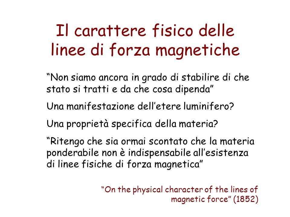 Il carattere fisico delle linee di forza magnetiche Non siamo ancora in grado di stabilire di che stato si tratti e da che cosa dipenda Una manifestaz