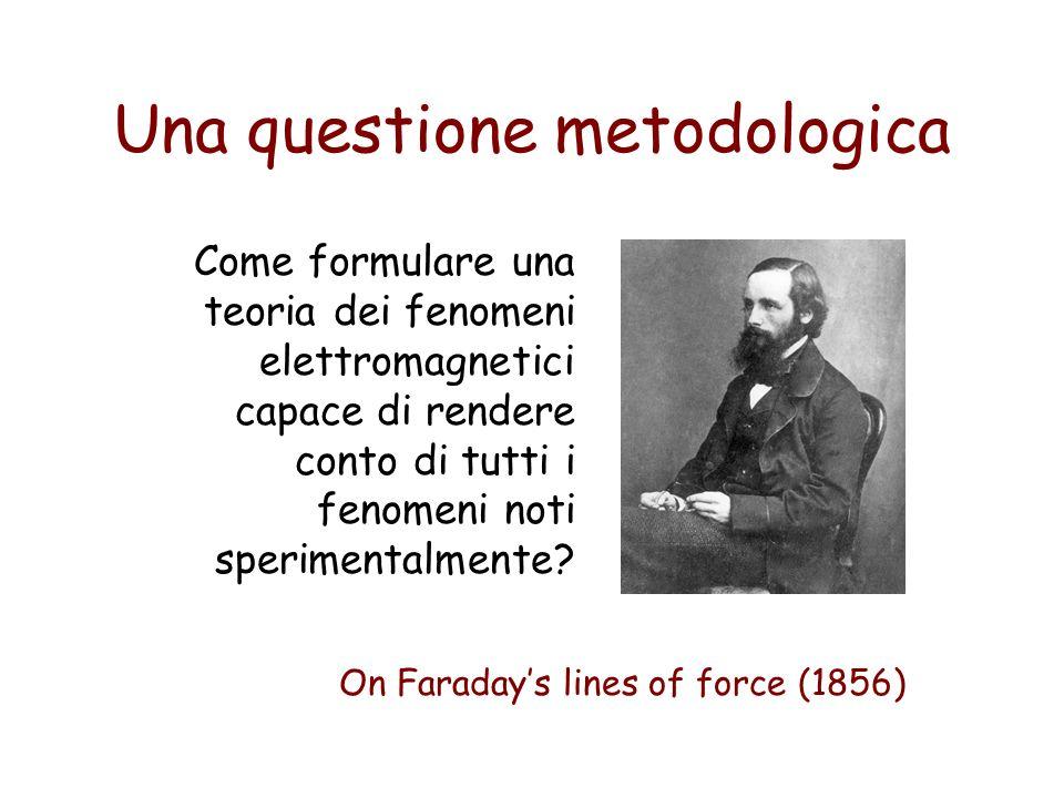 Una questione metodologica Come formulare una teoria dei fenomeni elettromagnetici capace di rendere conto di tutti i fenomeni noti sperimentalmente?