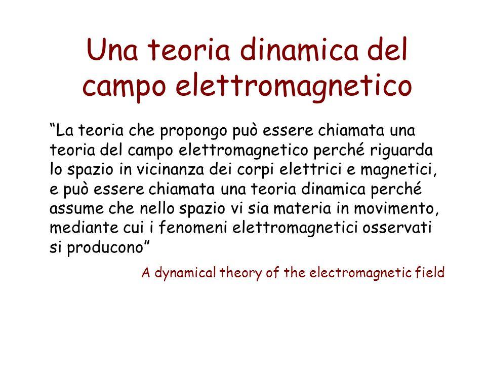 Una teoria dinamica del campo elettromagnetico La teoria che propongo può essere chiamata una teoria del campo elettromagnetico perché riguarda lo spa