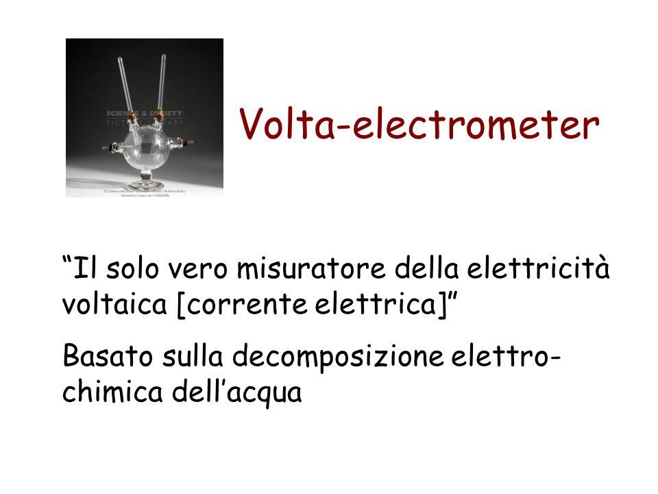 Il solo vero misuratore della elettricità voltaica [corrente elettrica] Basato sulla decomposizione elettro- chimica dellacqua Volta-electrometer