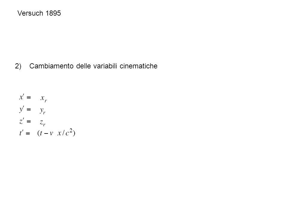 Versuch 1895 3) Cambiamento dello stato elettromagnetico J =