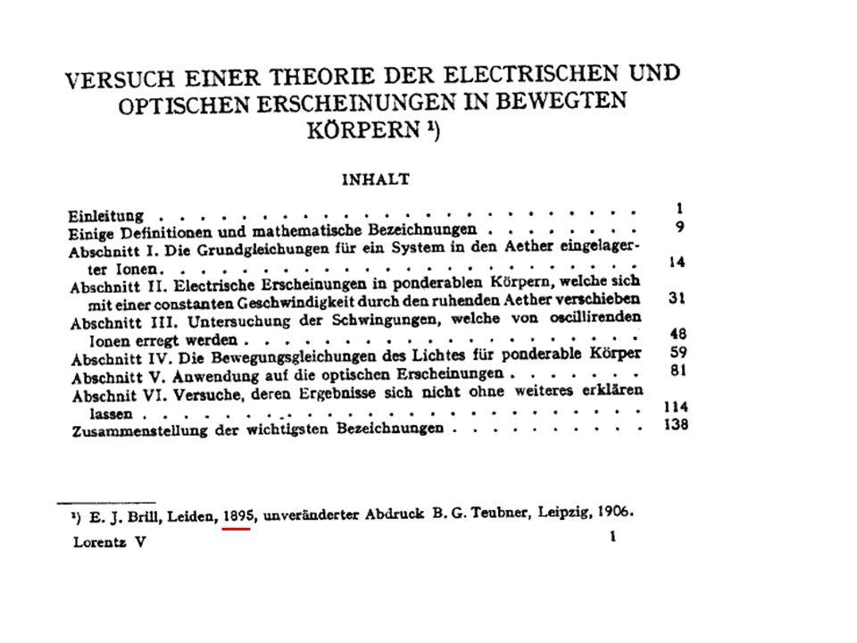 Pag 56 -59 Lorentz: Teorema degli stati corrispondenti