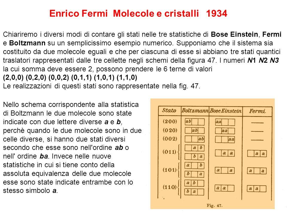 Chiariremo i diversi modi di contare gli stati nelle tre statistiche di Bose Einstein, Fermi e Boltzmann su un semplicissimo esempio numerico.