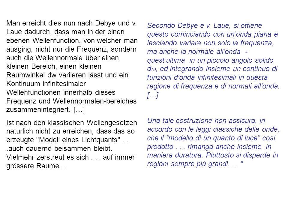 Secondo Debye e v.