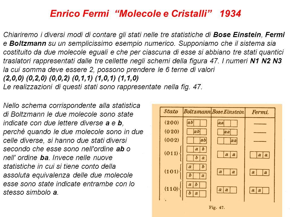 24 Chiariremo i diversi modi di contare gli stati nelle tre statistiche di Bose Einstein, Fermi e Boltzmann su un semplicissimo esempio numerico. Supp