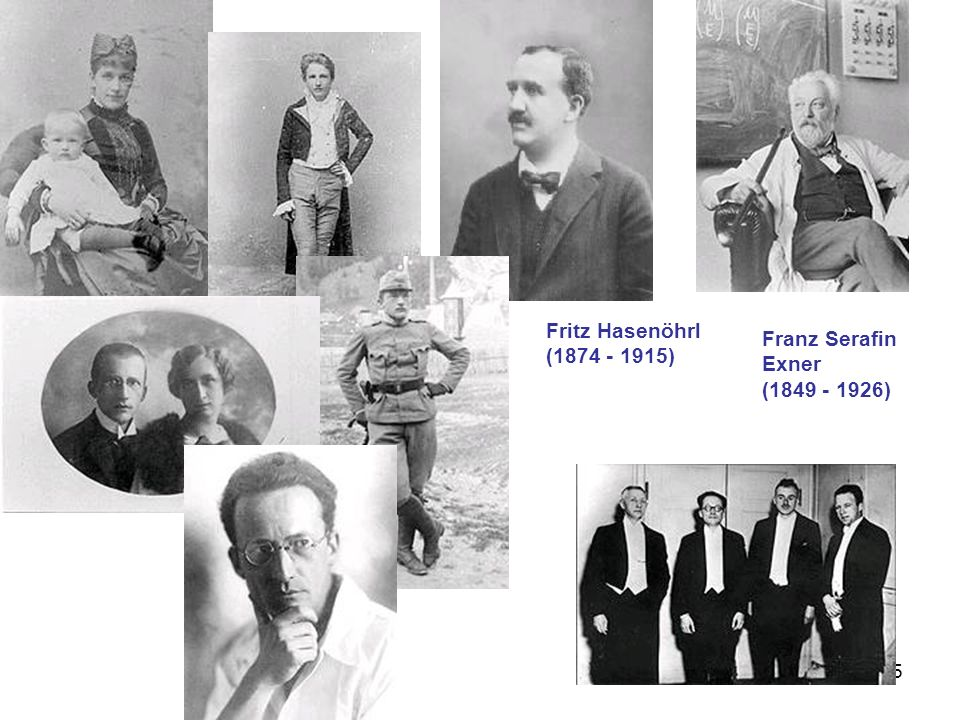 95 Fritz Hasenöhrl (1874 - 1915) Franz Serafin Exner (1849 - 1926)