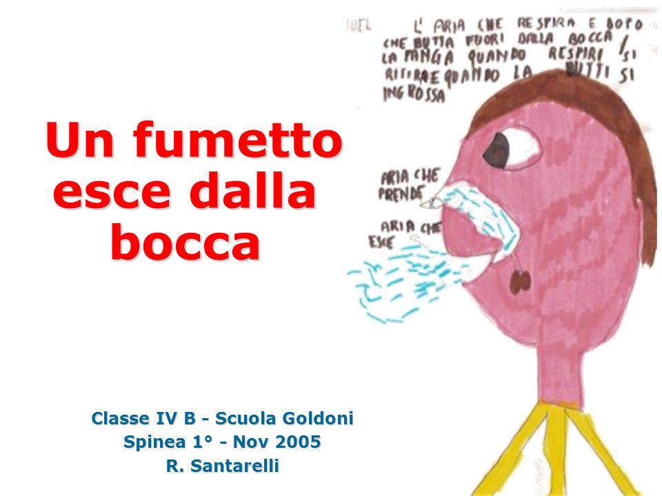 Classe IV B - Scuola Goldoni Spinea 1° - Nov 2005 R. Santarelli Un fumetto esce dalla bocca Un fumetto esce dalla bocca