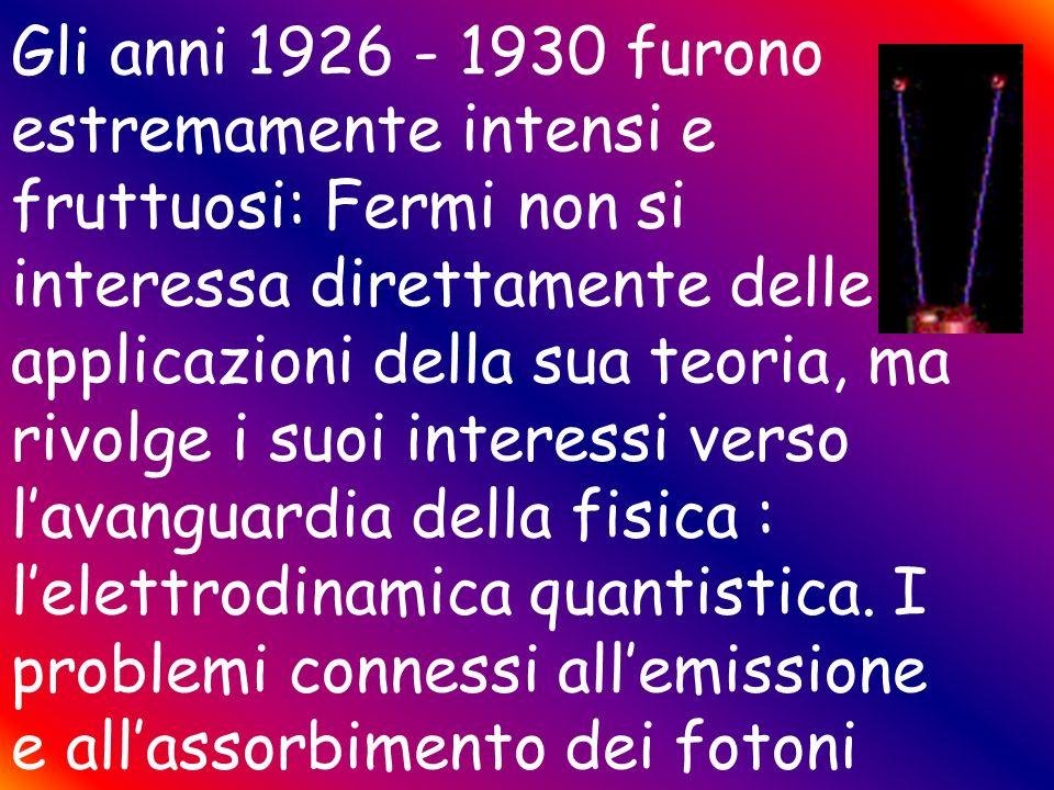 Fermi FermiDirac Nel 1926 Fermi entrò tra i grandi con la su statistica sulla quantizzazione del gas perfetto monoatomico, la statistica proposta per