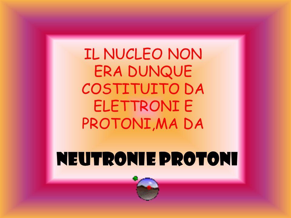 CHADWICK Misurando l impulso dato ai protoni emessi dalla paraffina, CHADWICK ottenne la massa del neutrone