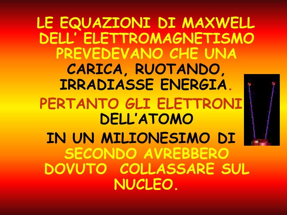 B) IL MODELLO MIRABILMENTE SEMPLICE DELL ATOMO NUCLEARE AVEVA QUALCHE PROBLEMA DI FUNZIONAMENTO.