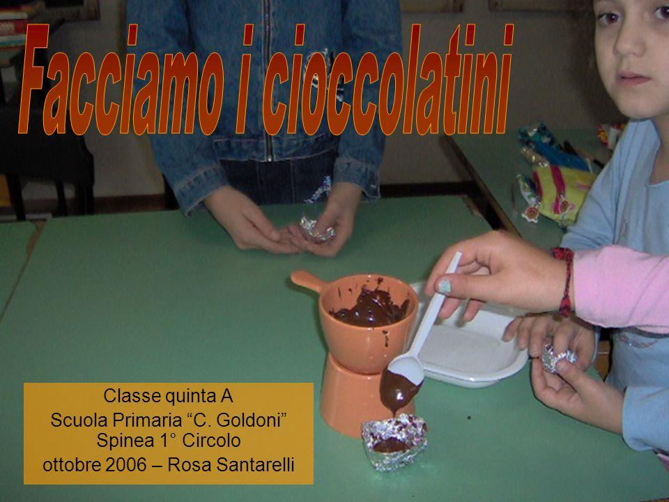 Profumo di cioccolato Le bidelle sentivano il profumo perché quando il cioccolato era fuso, laria prendeva qualche particella e laria è andata nel salone e le bidelle sentivano il profumo di cioccolata.