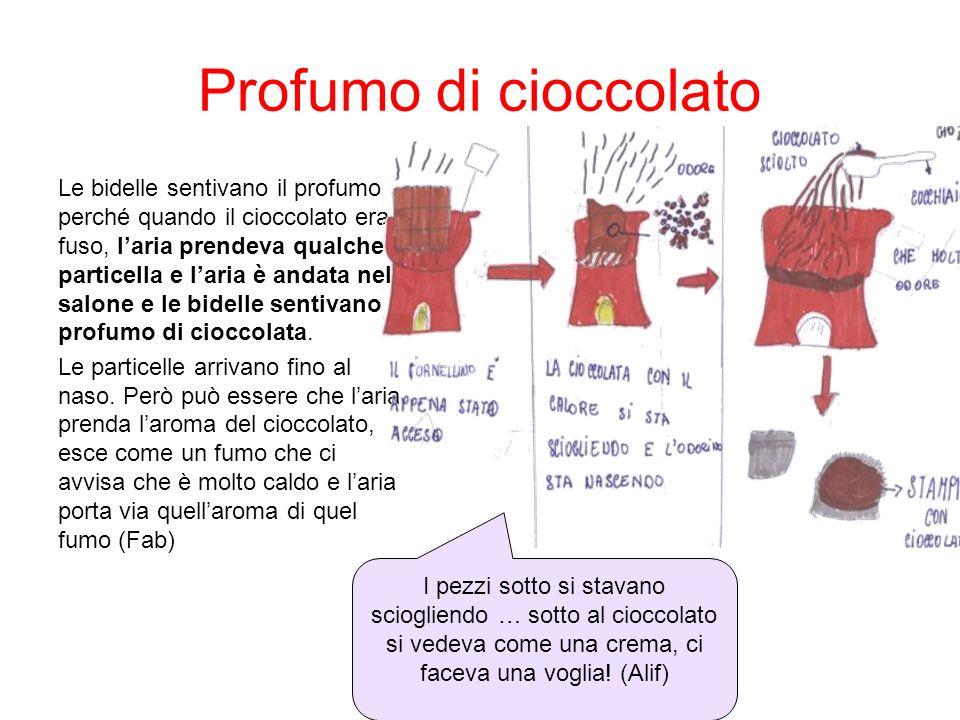 Profumo di cioccolato Le bidelle sentivano il profumo perché quando il cioccolato era fuso, laria prendeva qualche particella e laria è andata nel sal