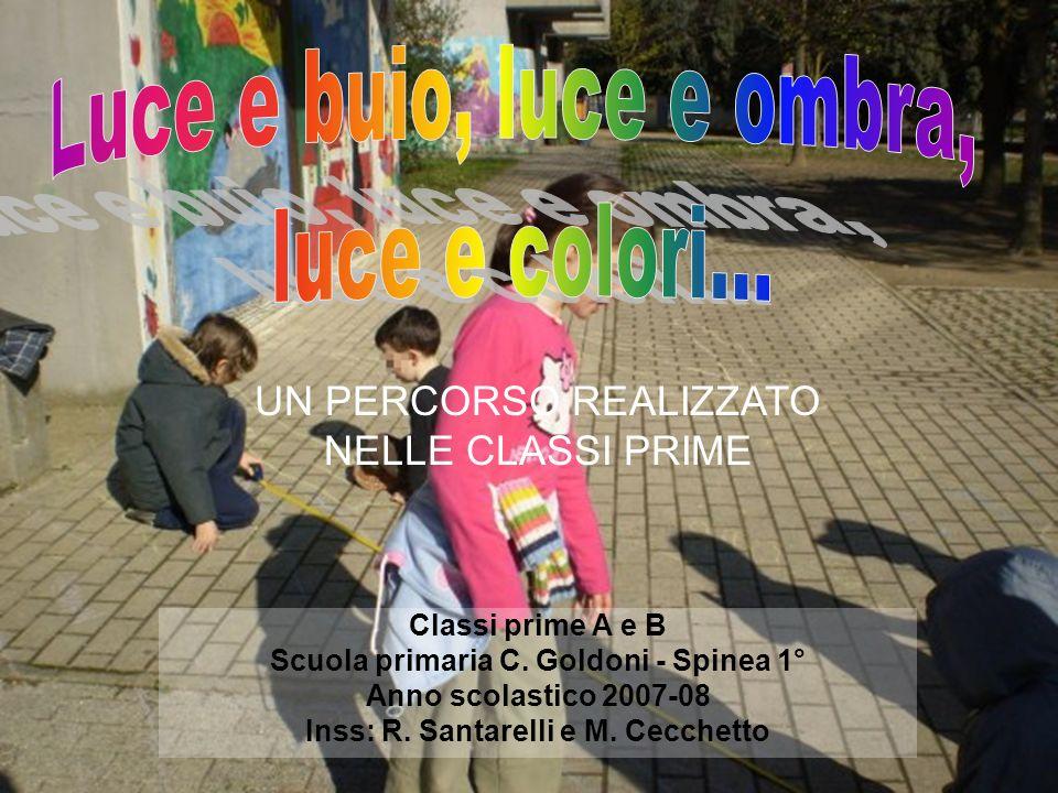 Classi prime A e B Scuola primaria C. Goldoni - Spinea 1° Anno scolastico 2007-08 Inss: R. Santarelli e M. Cecchetto UN PERCORSO REALIZZATO NELLE CLAS