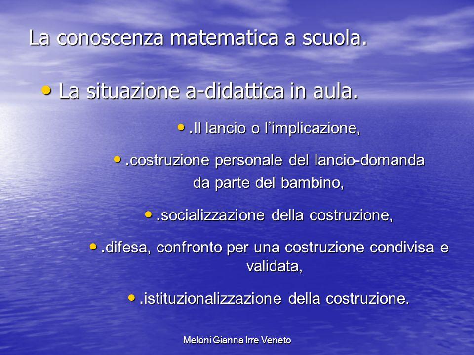 Meloni Gianna Irre Veneto La conoscenza matematica a scuola.