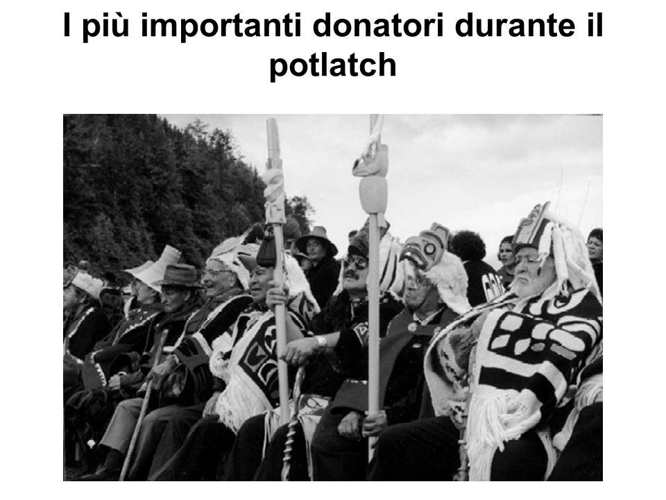 I più importanti donatori durante il potlatch
