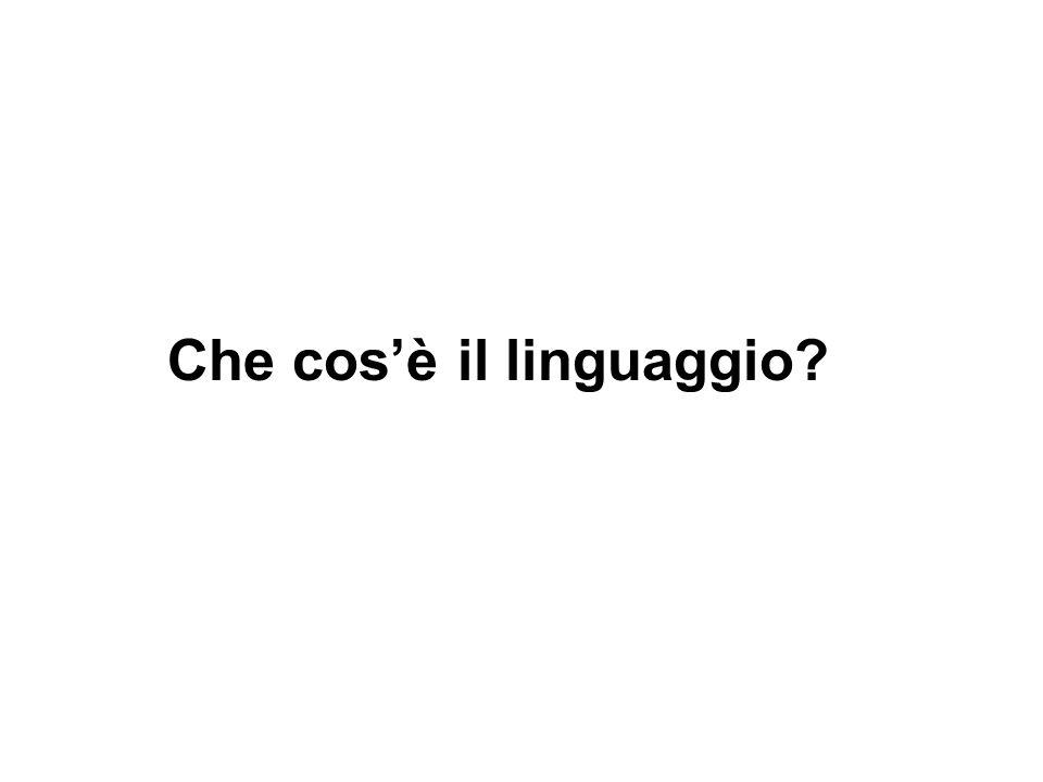 Che cosè il linguaggio?