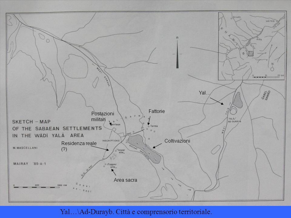Fattorie Coltivazioni Postazioni militari Residenza reale ( ) Area sacra Yal… Yal…\Ad-Durayb.