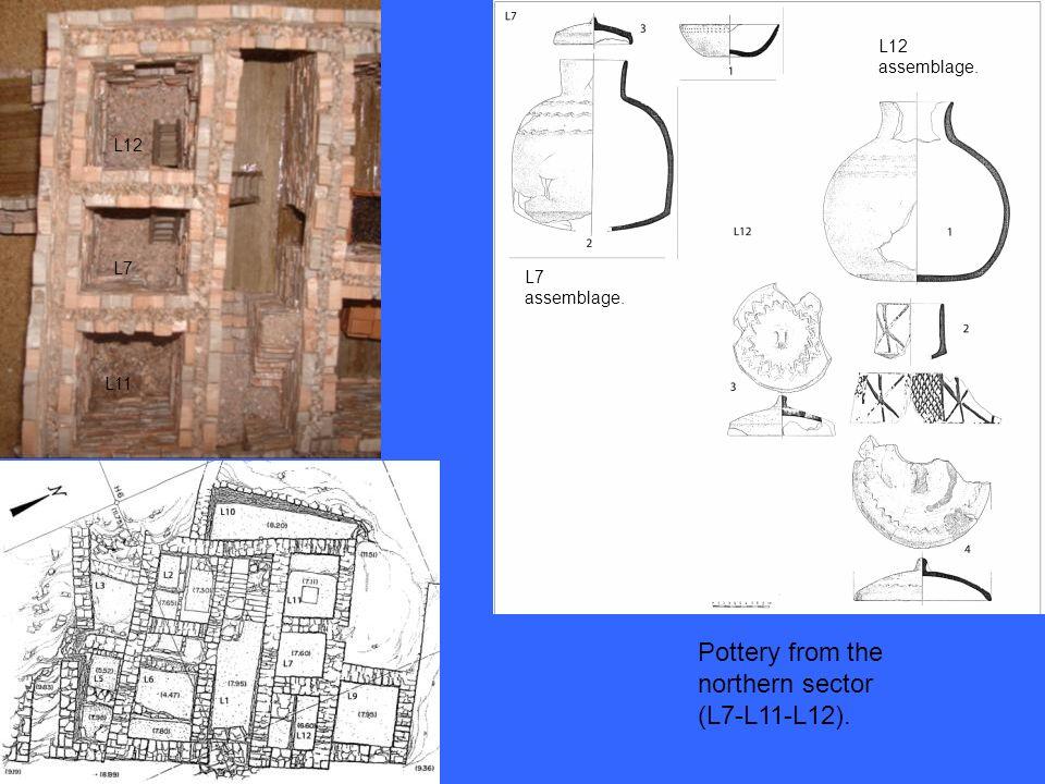 L12 L7 L11 Pottery from the northern sector (L7-L11-L12). L12 assemblage. L7 assemblage.