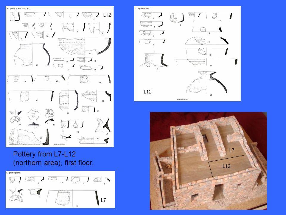 Pottery from L7-L12 (northern area), first floor. L12 L7 L12 L7