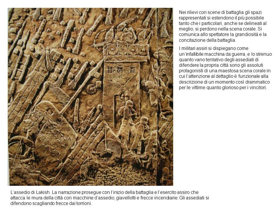 Lassedio di Lakish. La narrazione prosegue con linizio della battaglia e lesercito assiro che attacca le mura della città con macchine dassedio, giave